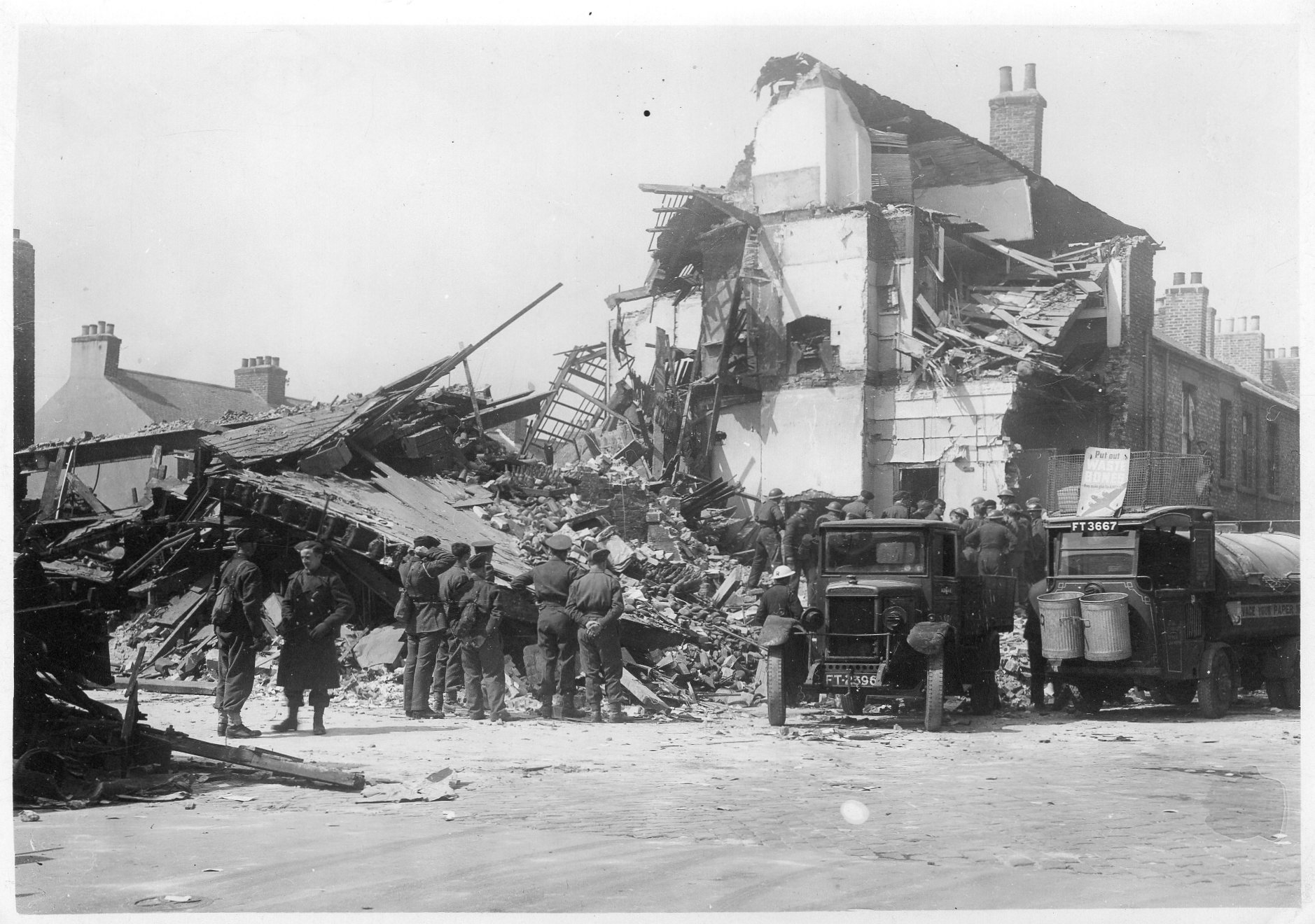 Film Footage of Air Raid site clearance