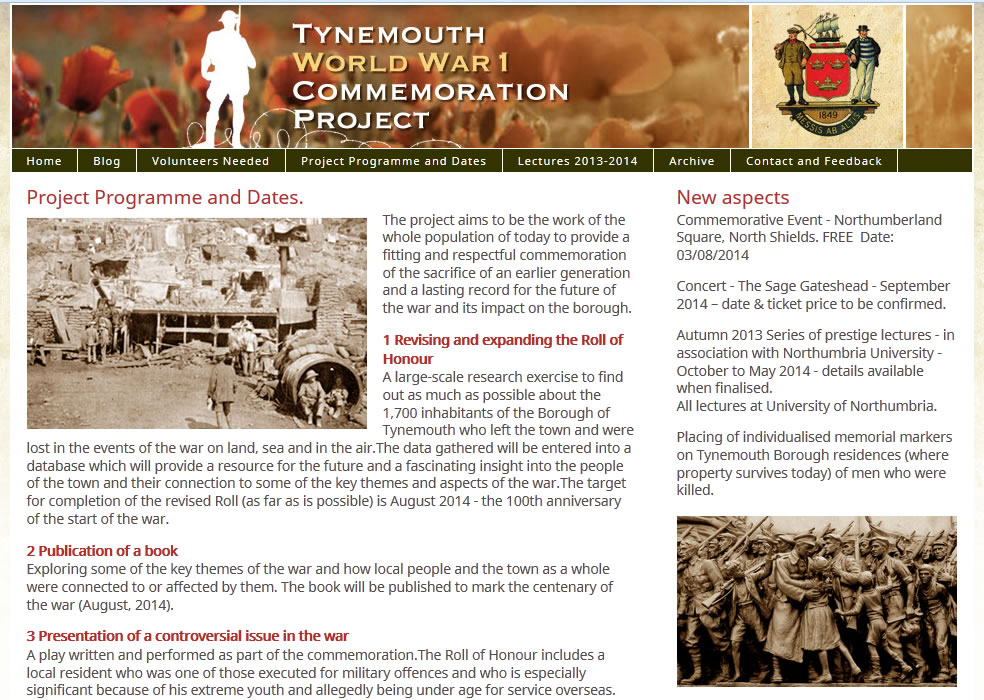Tynemouth World War 1 Commemoration Project